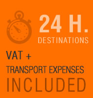24H DELIVERY. VAT + TRANSPORT EXPENSES INCLUDED